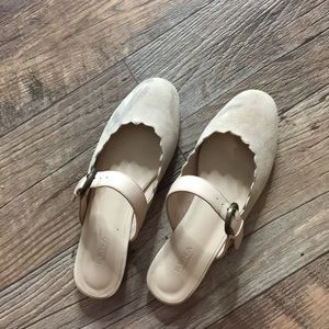 Lauren patent-trimmed leather slippers